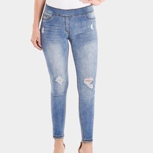 OMG Distressed Light Denim Leggings